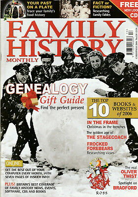 FAMILY HISTORY MONTHLY Magazine Christmas 2006 - Genealogy Gift Guide