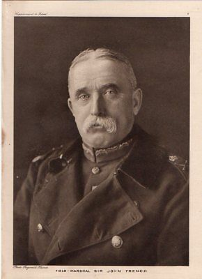 Field Marshal Sir John French WW1 Vintage Rare Antique War 1915