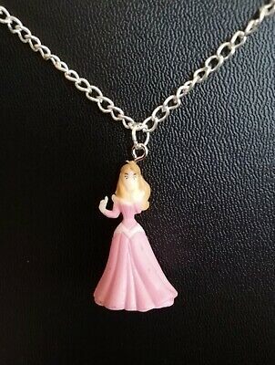 Disney Princess Necklace Silver Plated Gift Box Bag Ariel Belle Snow White
