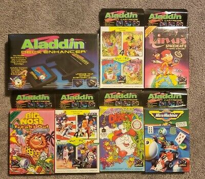 ALADDIN Deck Enhancer new in box + 6 games new in box