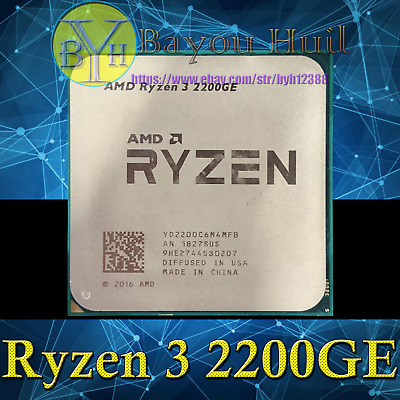 AMD Ryzen 3 2200GE 3.2GHz 4-Core/8-Threads DDR4 35W Socket AM4 CPUs/Processors