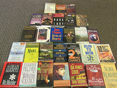 Mixed Lot of 28 Audio Books on Cassette Tapes Non-Fiction, Fiction Steele Clancy