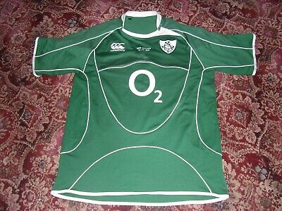 Ireland Rugby Shirt. .match Details And Number.new Zealand All Blacks.canterbury