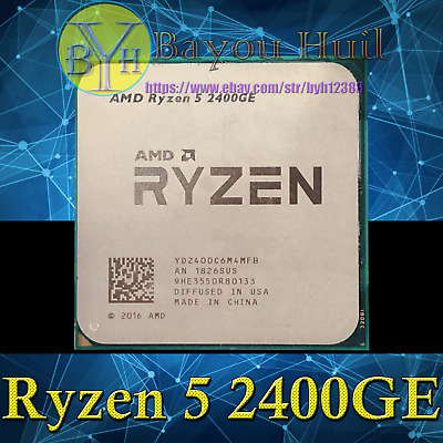 AMD Ryzen 5 2400GE 3.2GHz 4-Core 8-Threads DDR4 35W Socket AM4 CPUs/Processors