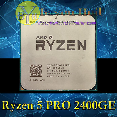 AMD Ryzen 5 PRO 2400GE 3.2GHz 4Core 8Threads DDR4 35W Socket AM4 CPU Processors