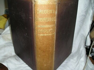 ANTIQUARIAN BOOK 1880 Concordance to Holy Scriptures Old New Testament Cruden
