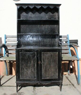 SMALL VINTAGE/ANTIQUE WOODEN DRESSER - 4' High - Possibly an Apprentice Piece