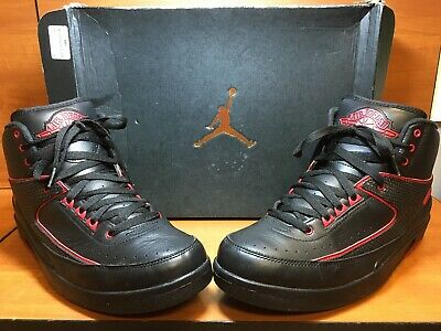 ed4f800be54 Nike Air Jordan 2 II Retro Black/Varsity Red 'Alternate 87' 834274-