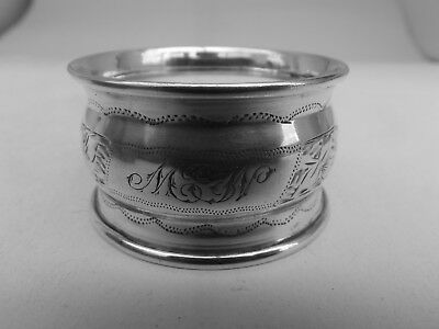Good Edwardian HM Silver Napkin Ring (497a) - Chester 1907 - sterling