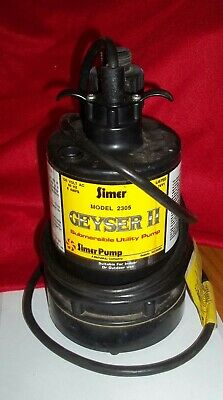 Simer 2305 Geyser Ii Submersible Utility Sump Pump 1/4 Hp