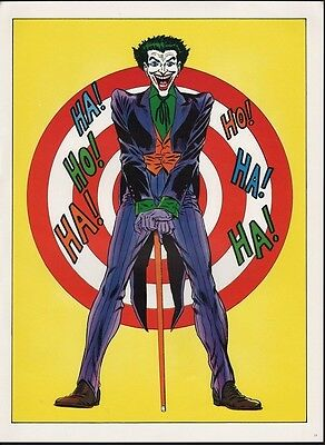 Vintage 1978 JOKER Pin up Poster DC Comics BATMAN