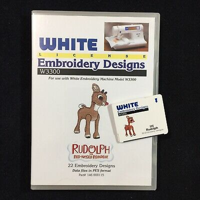 Rudolph Christmas Embroidery Designs Card Fits  Deco Brother Baby Lock White