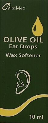 Olive Oil Ear Drops 10Ml With Extra Virgin Olive Oil, Soften, Remove Ear Wax