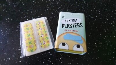 2 x SUPERDRUG FIX'EM PLASTERS FOR KIDS 24 (70X20MM) PLASTERS EACH IN TIN BOX