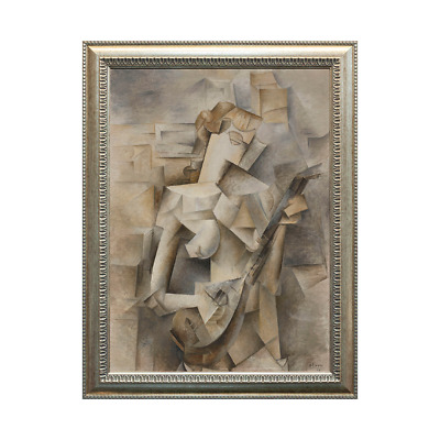 Girl with Mandolin (Fanny Tellier) - Pablo Picasso, Oil Painting Print on Canvas