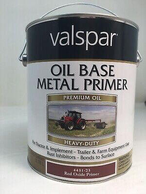 VALSPAR 4432-23 RED Oxide Metal Prim Tractor and Implement Paint - 1
