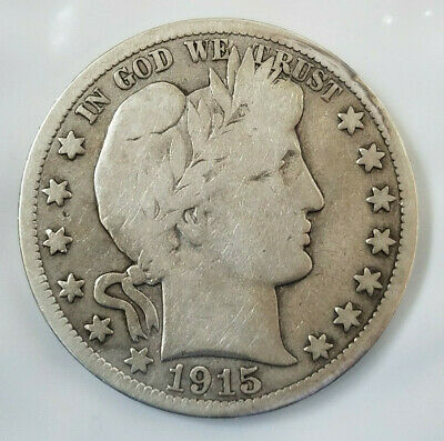 1915 S Barber Liberty 90% silver half dollar  (41019-220)