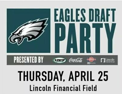 1-4 Philadelphia Eagles 2019 Draft Party Tickets - April 25th at 6:30pm