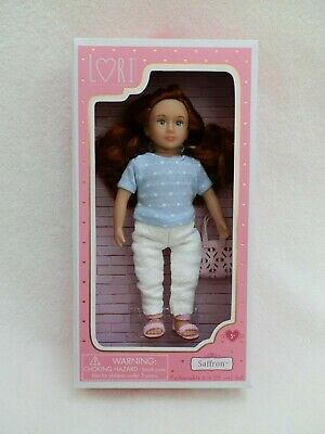 NEW! 6 inch mini Saffron LORI Doll Fashion City Girl Our Generation Battat