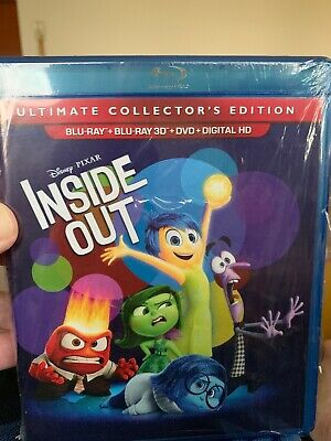 Ultimate Edition Inside Out (3D Blu Ray, DVD, Digital) NO Slipcover