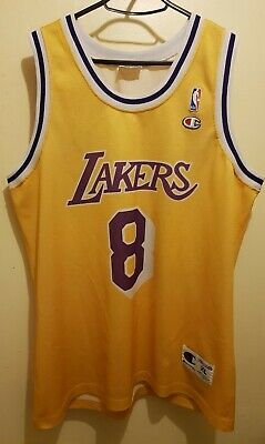 d3ad1e08f1f Champion Los Angeles Lakers Bryant NBA rookie Jersey XL 48 1997  8 Fox  Ceballos