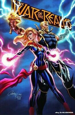 War Of The Realms #1 Campbell Blue Variant Captain Thor Avengers Marvel Comic