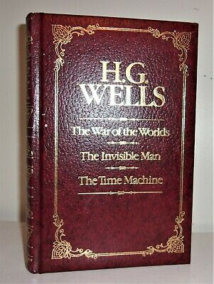 Steampunk H.G Wells New Illustrated Hardcover The Time Machine War of Worlds