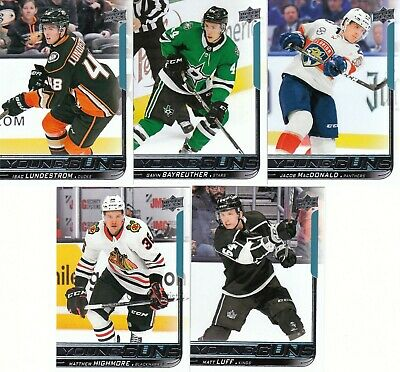 18/19 Upper Deck Series 2 Young Guns #466 Isac Lundestrom - Anaheim Ducks