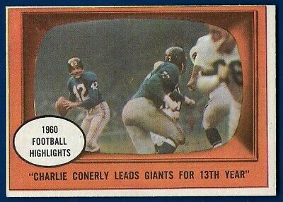 ce301366e6900 1961 FLEER WALLET Pictures #CHCO Charlie Conerly New York Giants ...