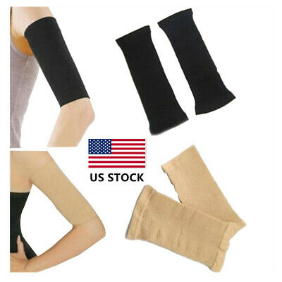 US 2PC Men women Compression Slim Arm Sleeve Bandage Wrap Sports Arm Supports