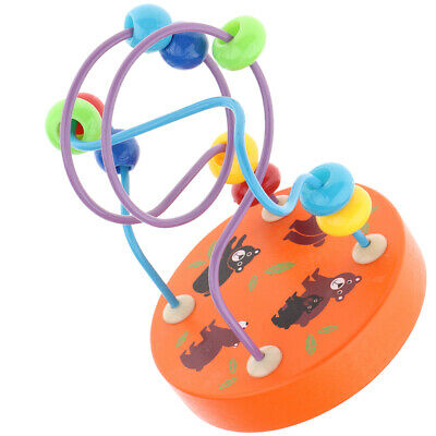 Colorful Wooden Beads Maze Roller Coaster Game Classic Kids Educational Toys