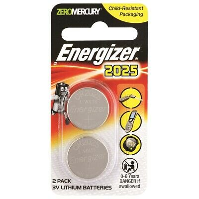 NEW Energizer CR2025 3V Lithium Battery 2 Pack 2025 Thermometer Calculator Watch