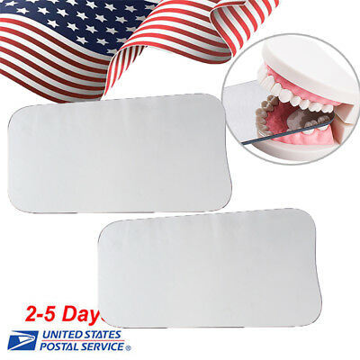 2X Dental Intraoral Orthodontic Photographic Glass Mirror 2 sided Occlusal Oral