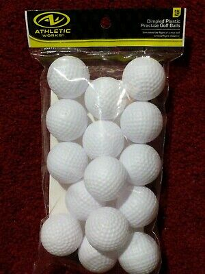 Dimpled Plastic Golf Balls 15 count NEW