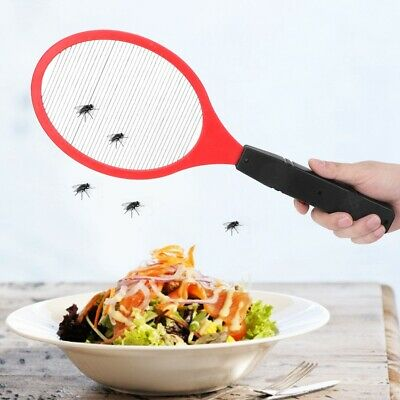 Electric Bug Zapper Racket Insects Killer Handheld Camping Trip Mosquito Swatter