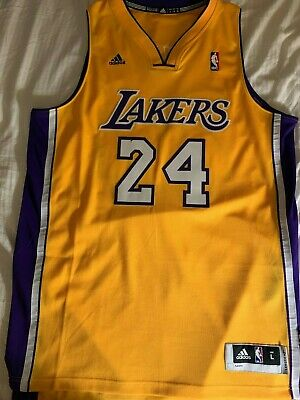 def6d4168fb 100% Authentic Kobe Bryant Adidas Lakers Swingman Jersey Size L 48 Mens