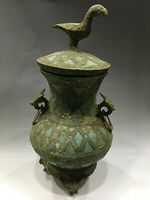 Delicate Old Chinese Ming Dynasty Bronze Bird Vessel