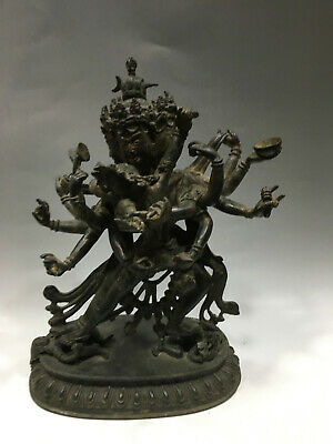 Delicate Old Chinese Ming Dynasty Bronze Thousand hands Buddha