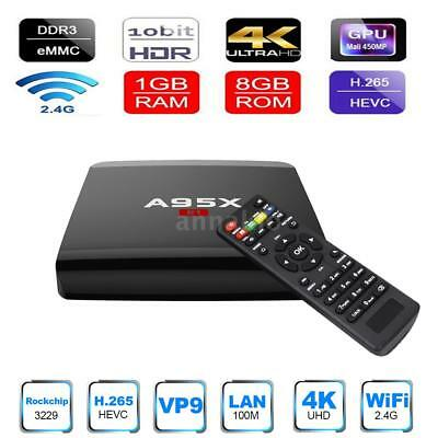 A95X R1 Smart Android TV Box Android 6.0 RK3229 Quad Core UHD 4K H.265 HD A8M5