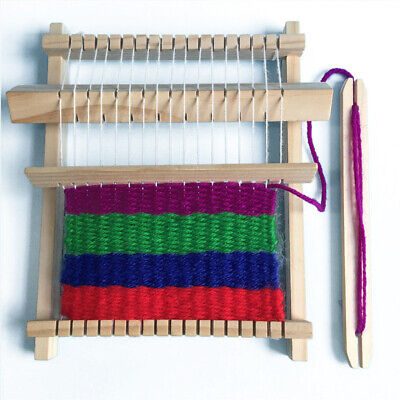 AU DIY Hand-Knitting Wooden Loom Toys Children Weaving Machine Educational Toys