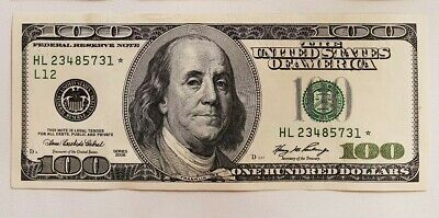 $100 *Star note* 2006 One Hundred Dollars Federal Reserve Paper Money