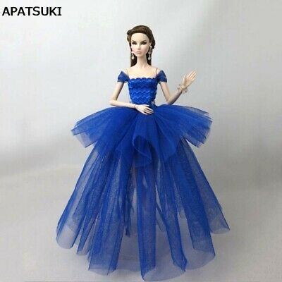 Royal Blue Fashion Costume Clothes For 11.5in. Doll Dress Outfits 1/6 Kids Toy