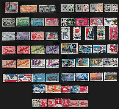 USA mixed Airmail collection, Air Mail stamps No.18, mostly used