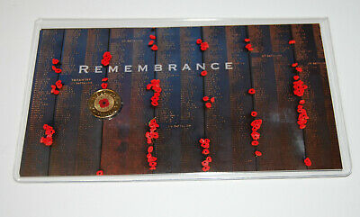 2012 $2 coin RED POPPY Remebrance on BLACK Card UNC  Very Rare