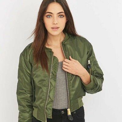 12d53504e1930 Urban Outfitters Urban Renewal Vintage Surplus Green MA1 Bomber Jacket Size  L