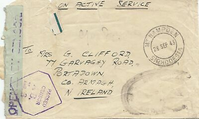 South Rhodesia: letter 1945 to Ireland Portadown with Censor