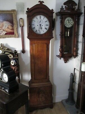 Williams of Dowlais Wales Quality Silvered Dial 8 Day Lovely Case