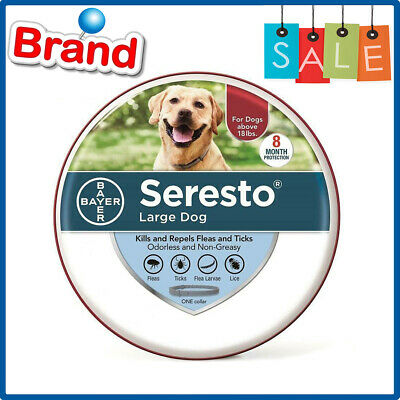 Bayer Seresto Flea and Tick Collar for Large Dogs Over 18lb Authentic Protection