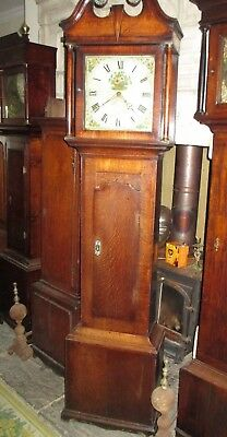 Peck Of Thrapston Northamptonshire 30 Hr Oak And Mahogany Grandfather Clock