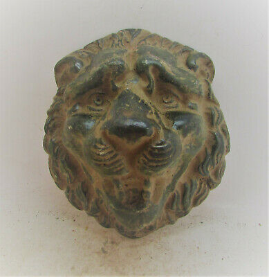 Circa 300-400Ad Roman Era Legionary Casket Or Chariot Mount Face Of A Lion